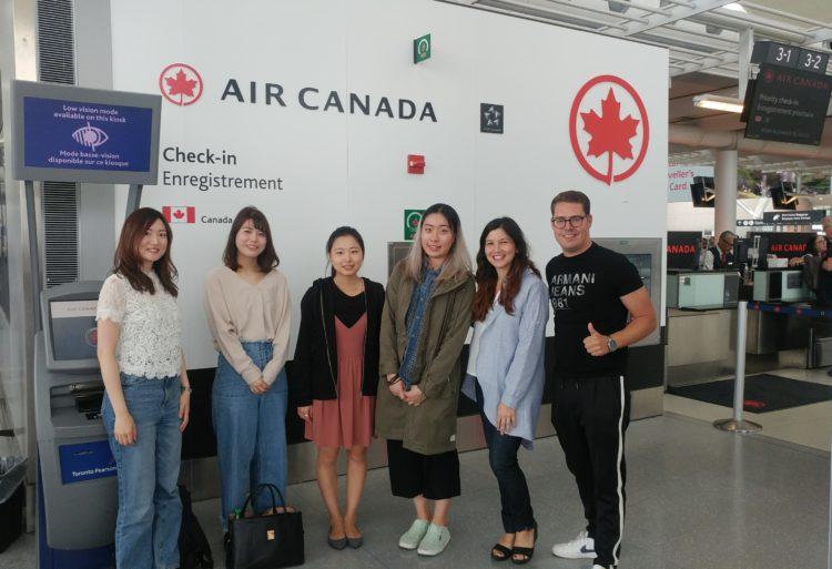 CACCT field trip at airport 2 - SSLCトロント校(スプロット・ショウ・ランゲージ・カレッジ)