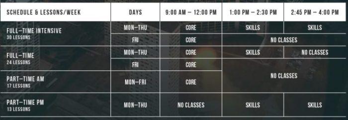 ILSC schedule 700x241 - ILSC モントリオール校