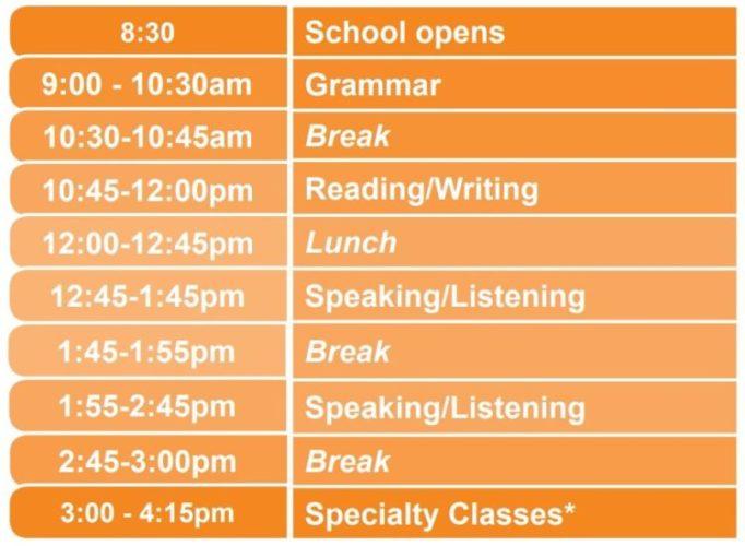 inlingua schedule 682x500 - インリングア(ビクトリア校)