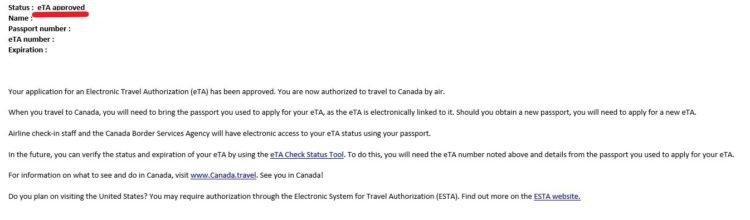 approved - よく分かる!観光ビザでカナダ留学する方法とeTA申請マニュアル