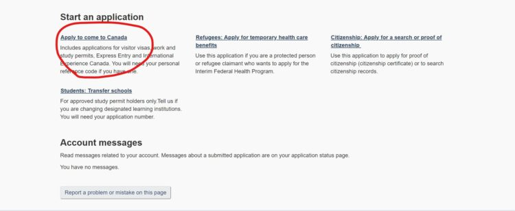 start - カナダの学生ビザの取得方法を申請画面の和訳付きで徹底解説!